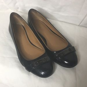 Coach Oswald Flats In black patten leather